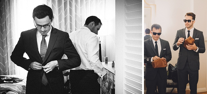 The handsome (and hilarious!) Groom getting ready for the big day!