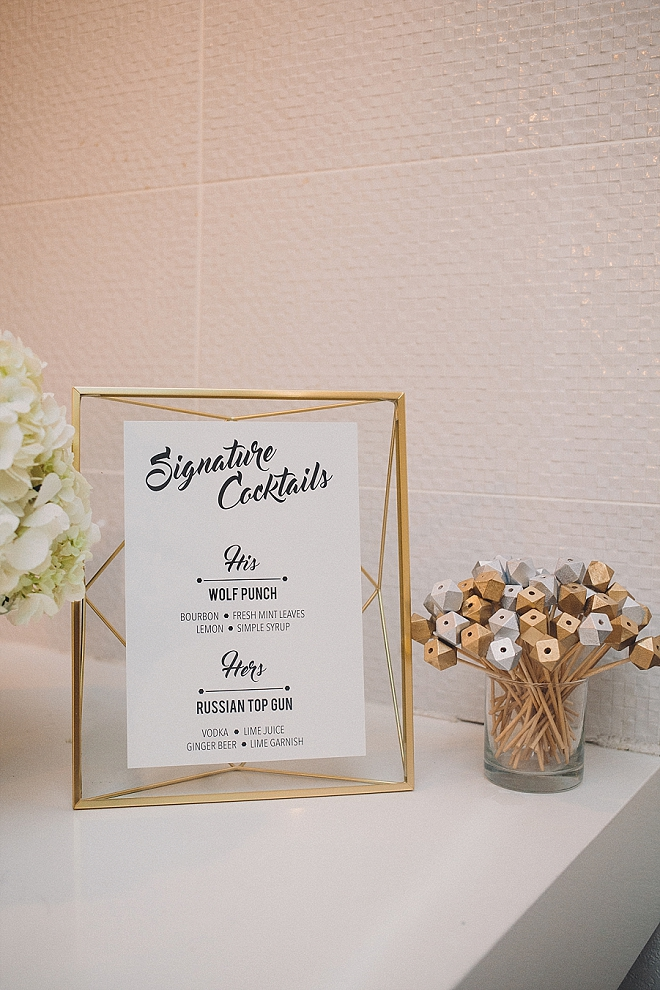 Crushing on all of the stunning and modern details at this super DIY wedding!