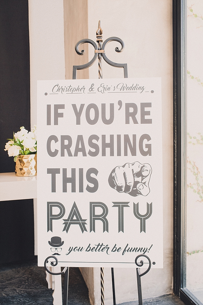 What a wedding welcome sign! We LOVE it!