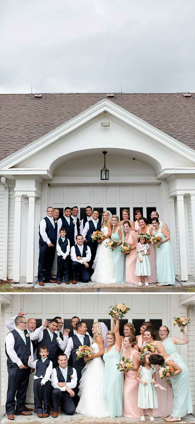 Such a CUTE snap of the this couple + their wedding party!