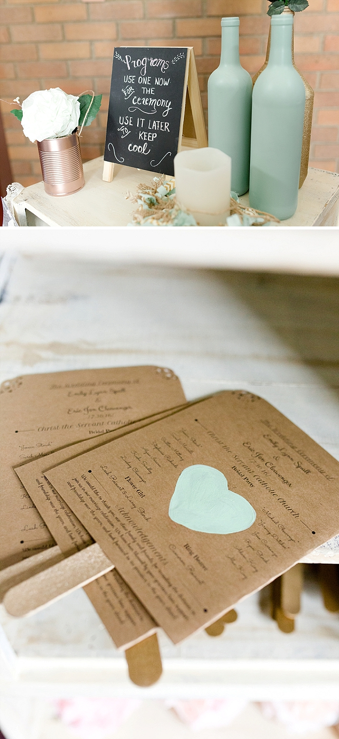 How cute as these ceremony programs the Bride crafted?! We LOVE them!