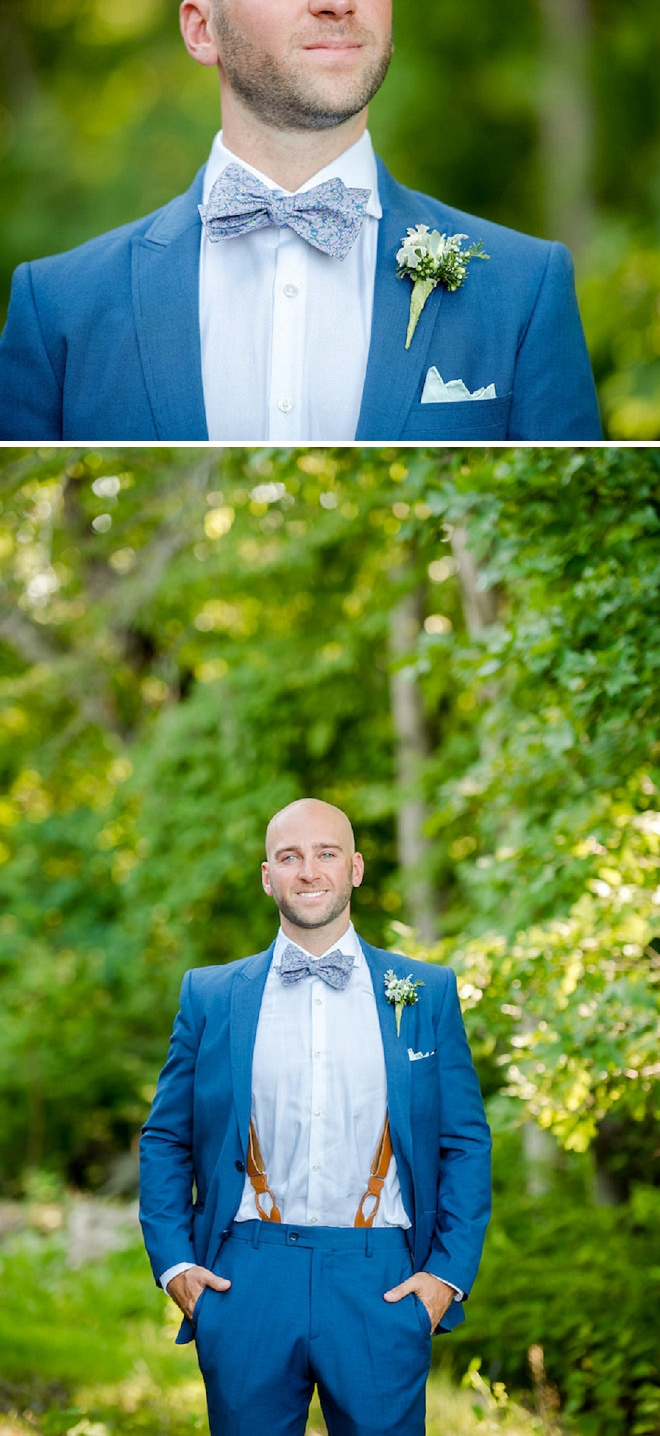 The handsome Groom waiting to see his Bride at their first look!
