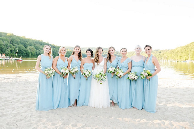 The Bride and her beautiful Bridesmaid's before the ceremony!