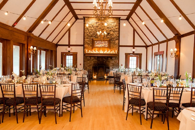 This lakeside wedding and stunning wooden detail is one of our favorites!
