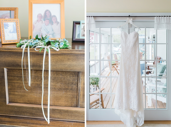 We're loving this Bride's darling wedding day details!