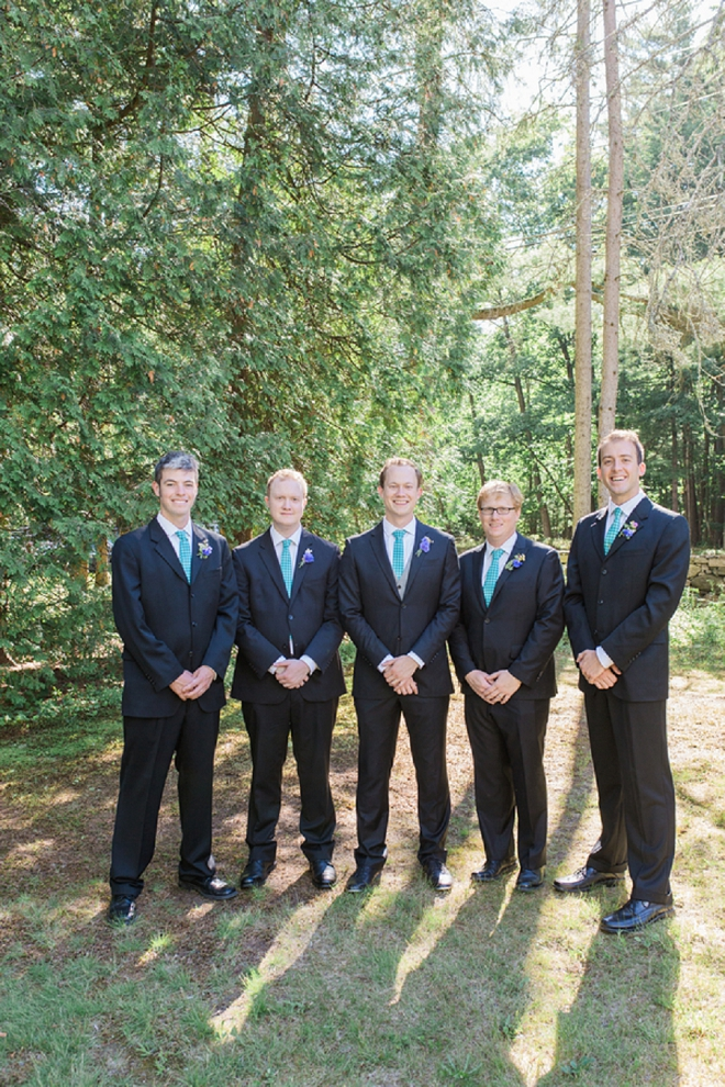 The Groom and his Groomsmen getting ready for the ceremony!
