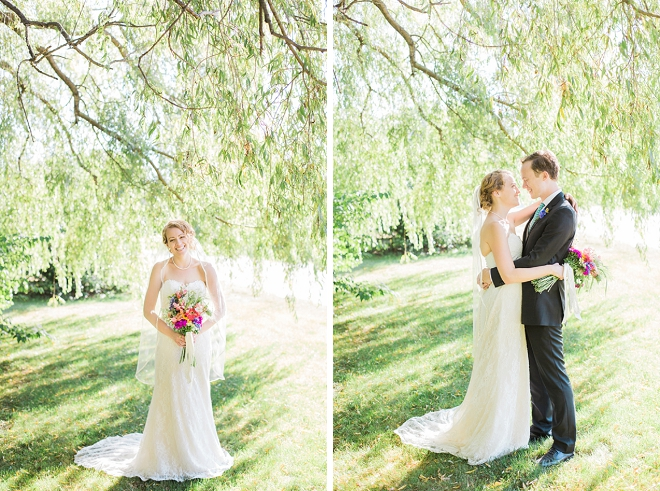 Crushing on this super cute backyard wedding!