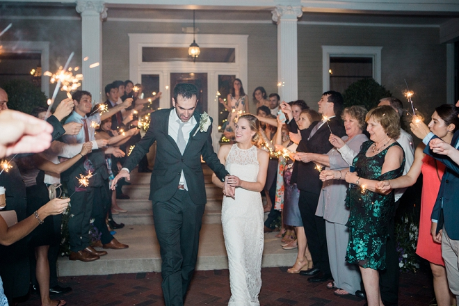 We love a good sparkler exit! So dreamy!