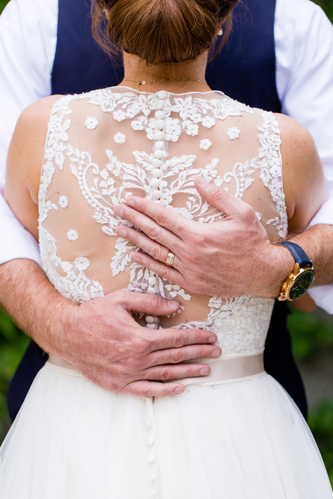 OBSESSED with this Bride's dress and this snap - so stunning!