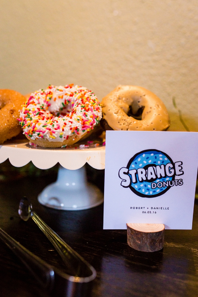 We LOVE that this couple chose donuts instead of cake - SO fun!