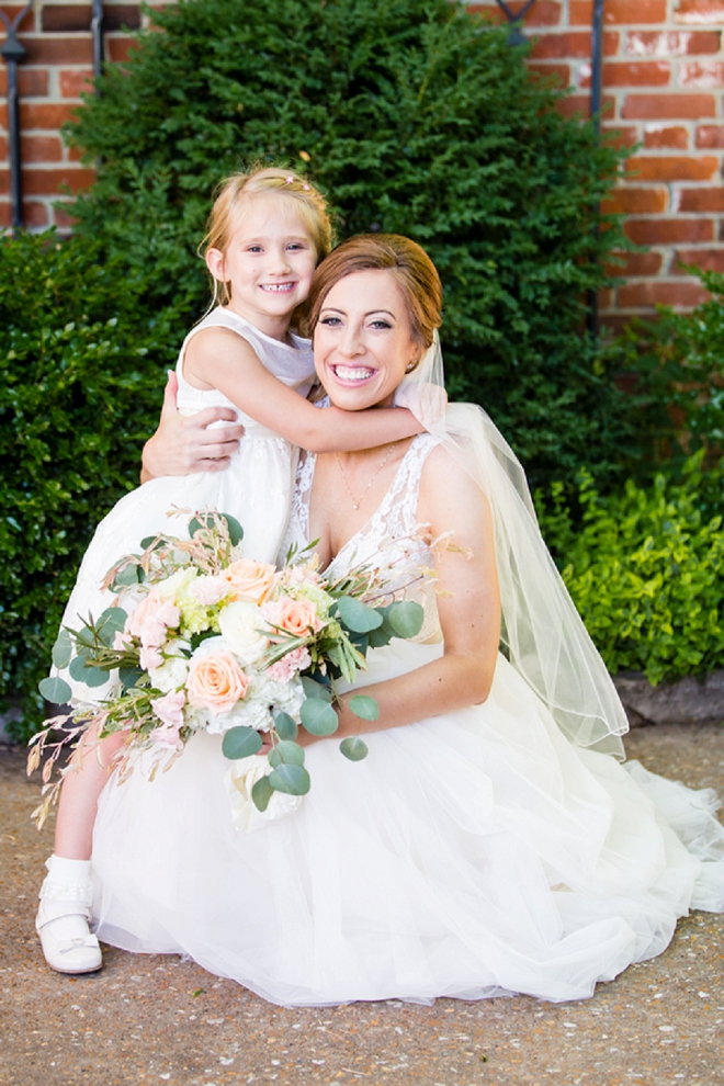The stunning Bride and her Step Daughter before the first look!