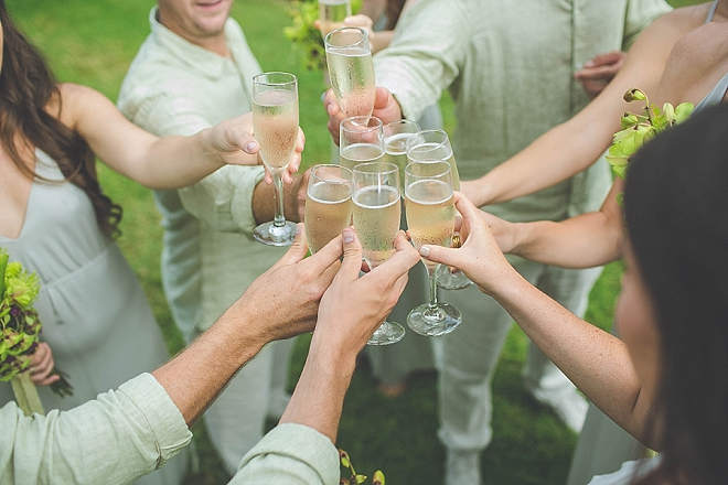 Cheers to the new Mr. and Mrs!