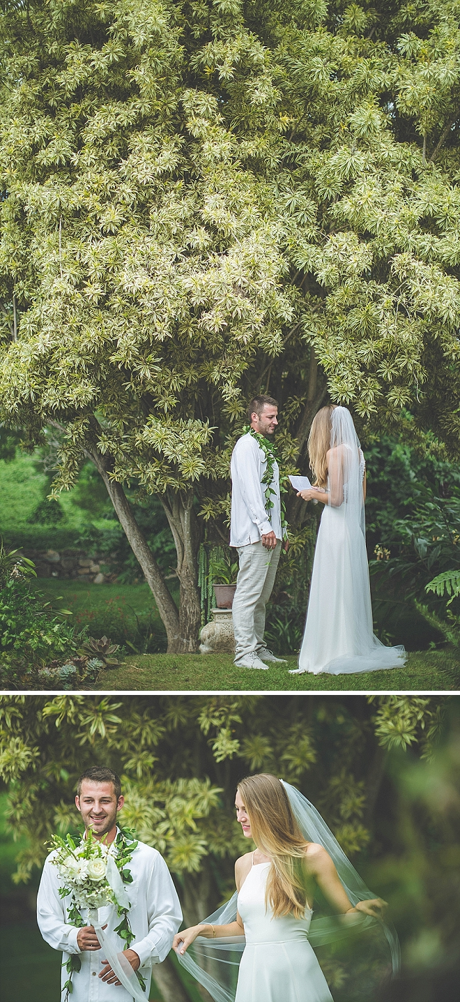 We're crushing on this sweet couple reading private vows to each other after the ceremony!