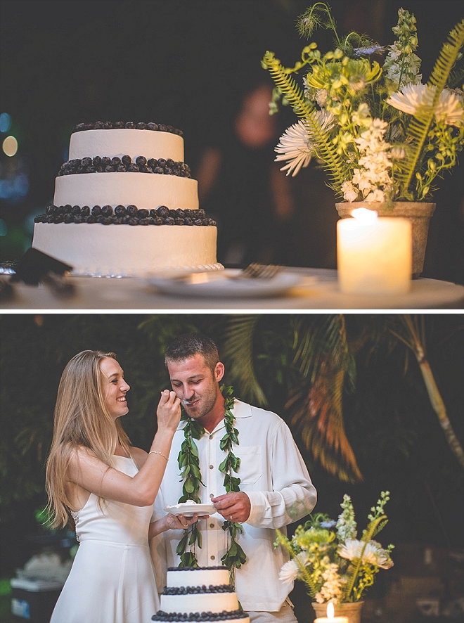 Cutting the cake as Mr. and Mrs - so darling!