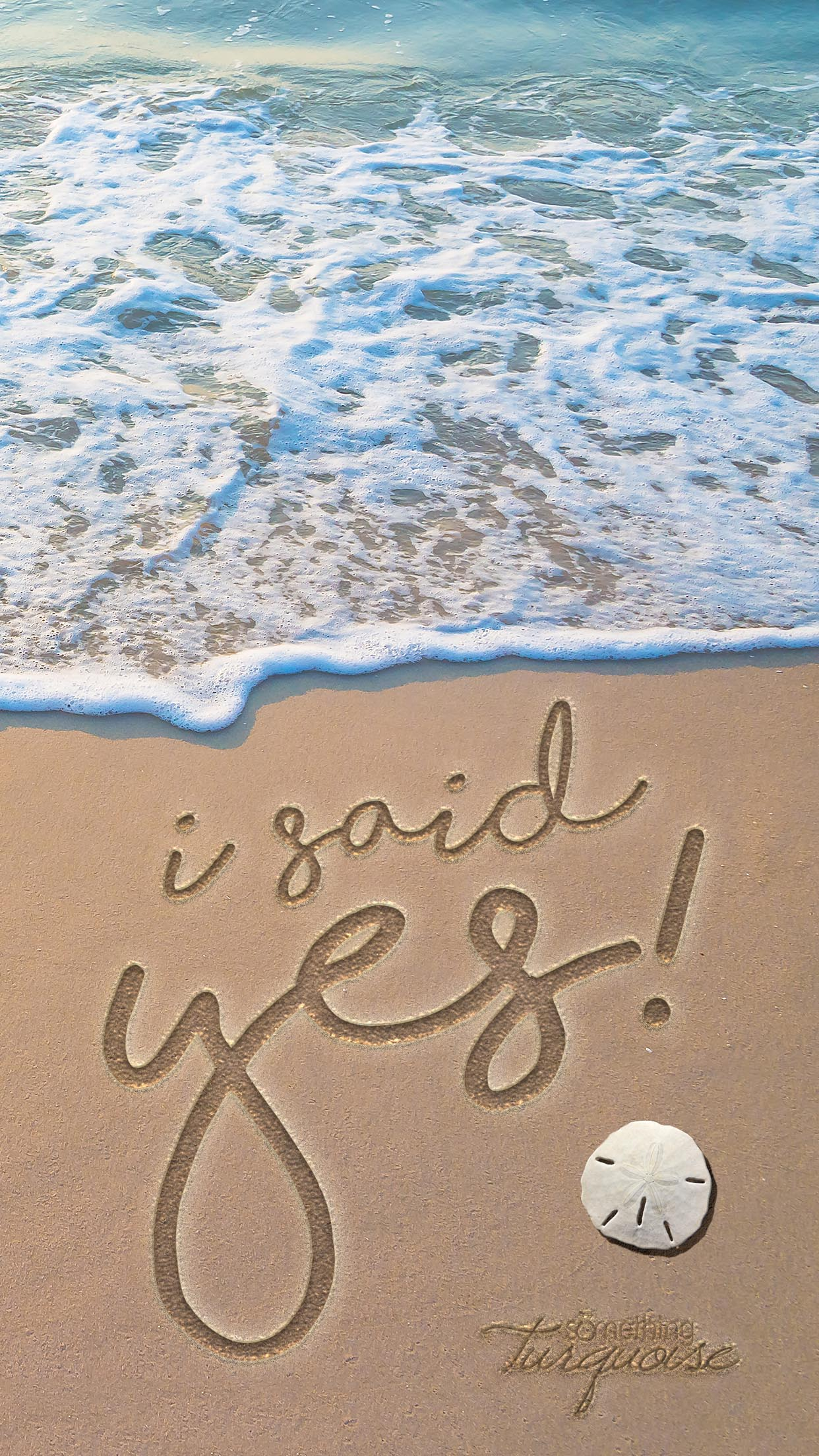 Download this darling I said Yes beach background for your iPhone!