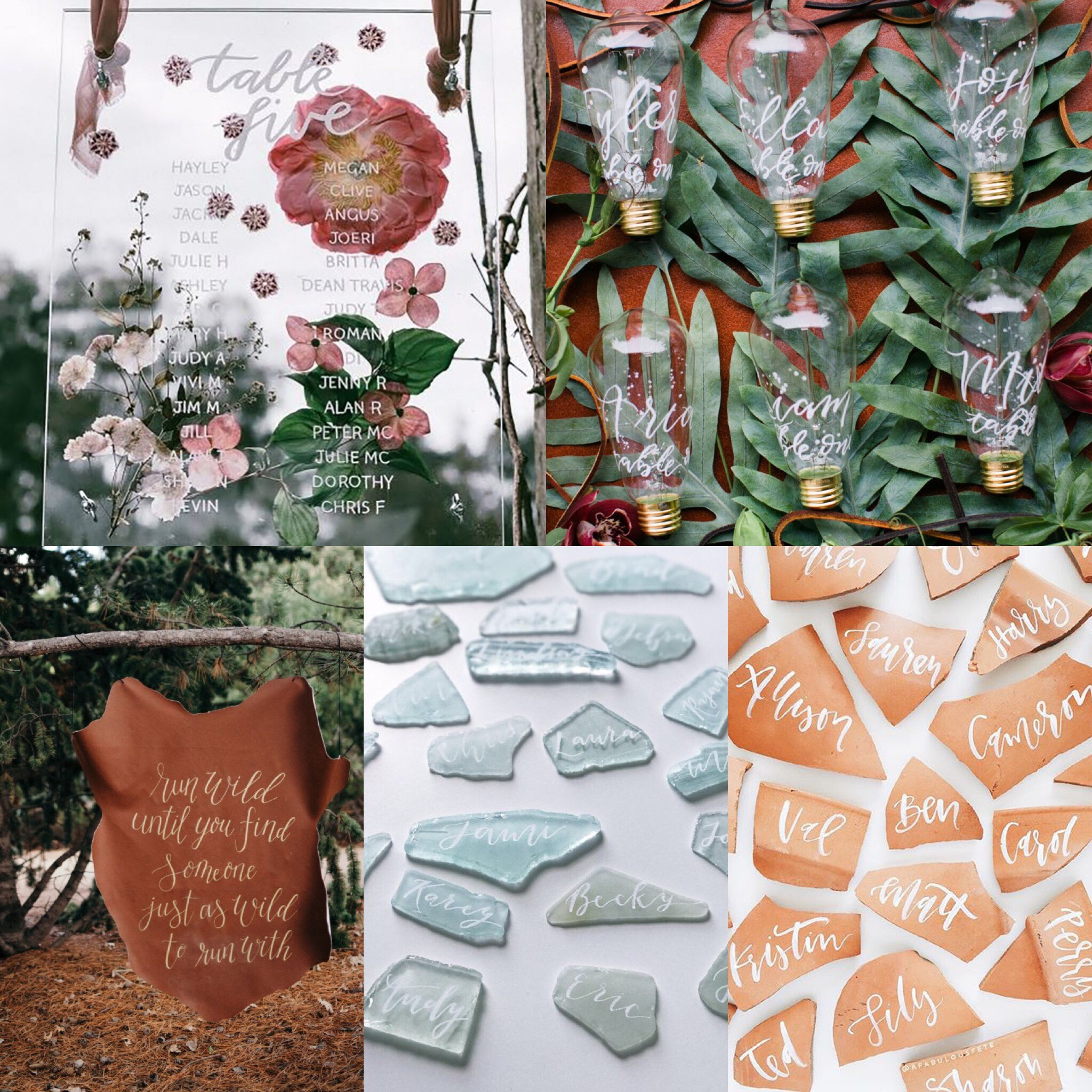 Bridal Blogger Brittany's favorite calligraphy wedding details!