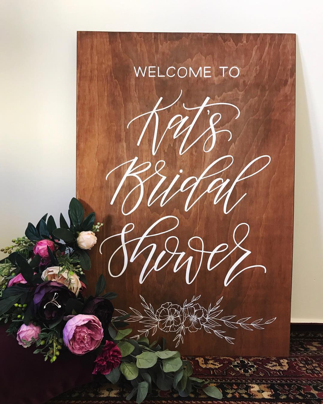 Custom wedding calligraphy by Willow & Ink