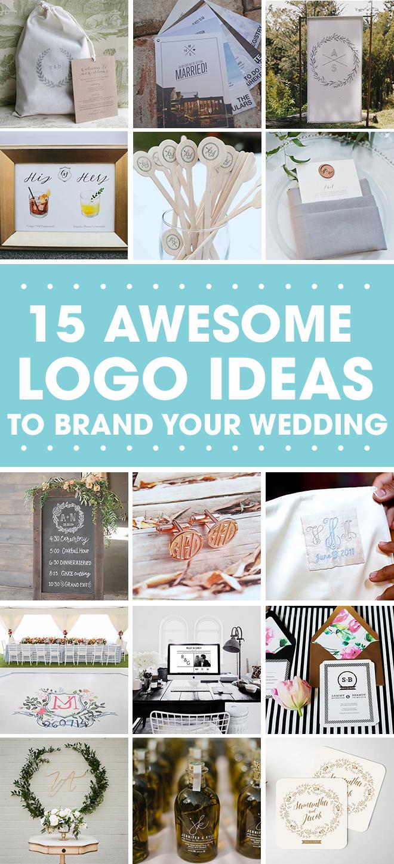 15 Fabulous Logo Ideas to brand your wedding