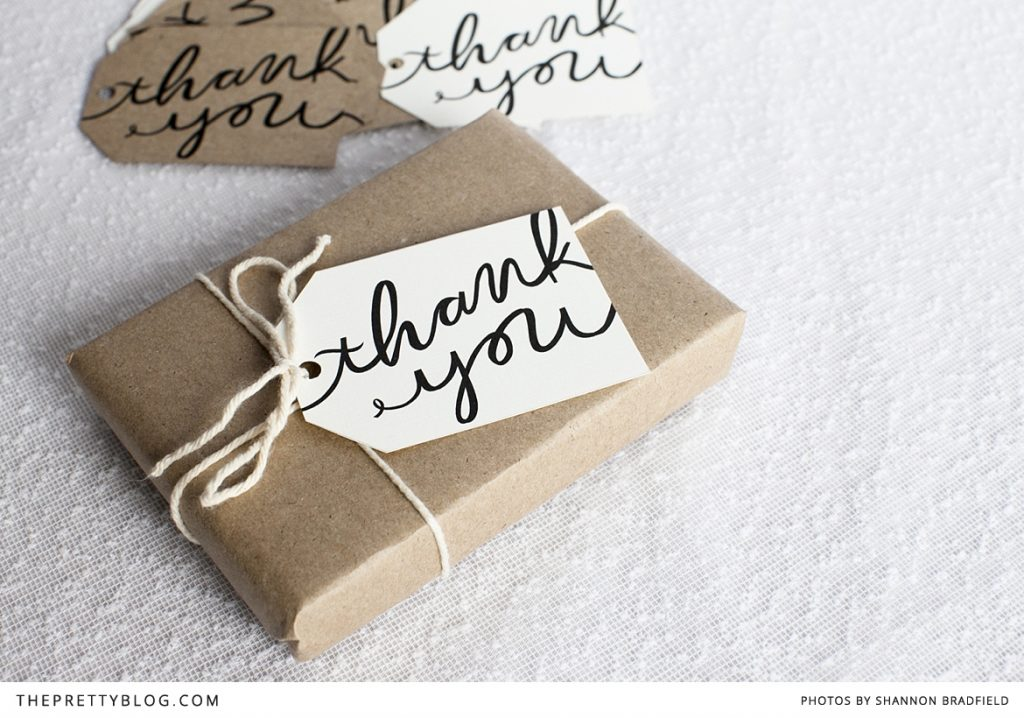 Thank You Tags via The Pretty Blog