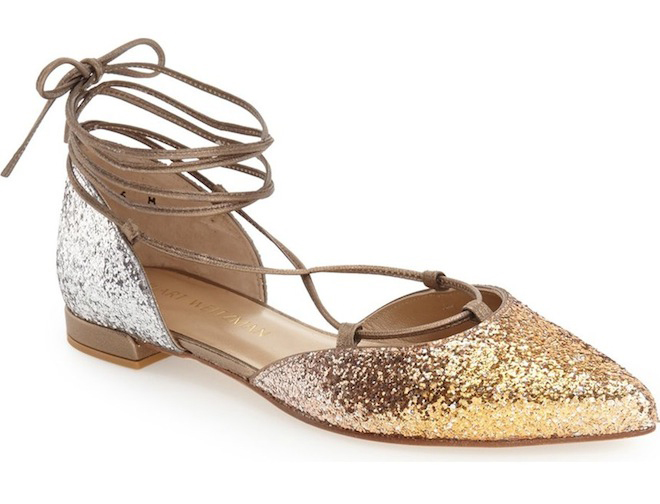 These glitter flats would be perfect for a wedding!