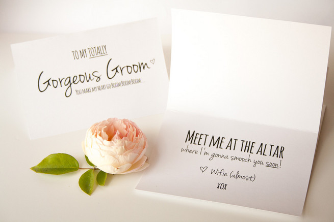 Easy free printable card for your groom. Just print and start writing!