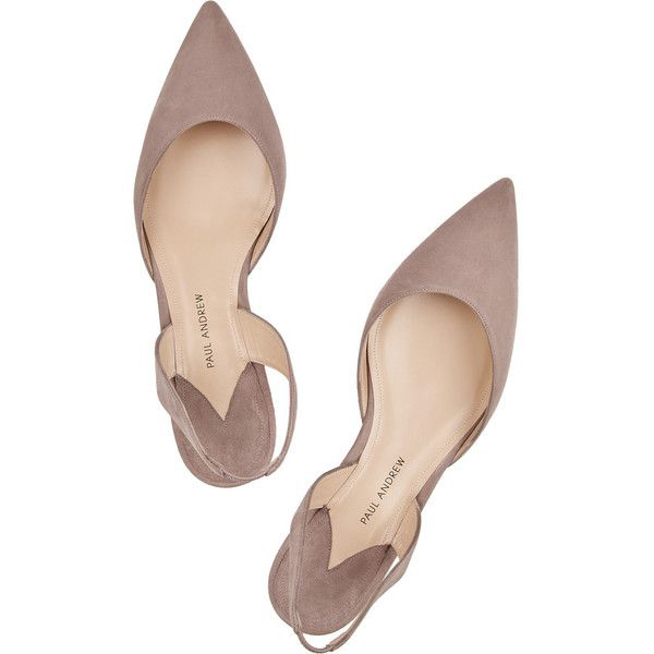 Love the colour of these suede flats.  They would look amazing with a champagne wedding dress!