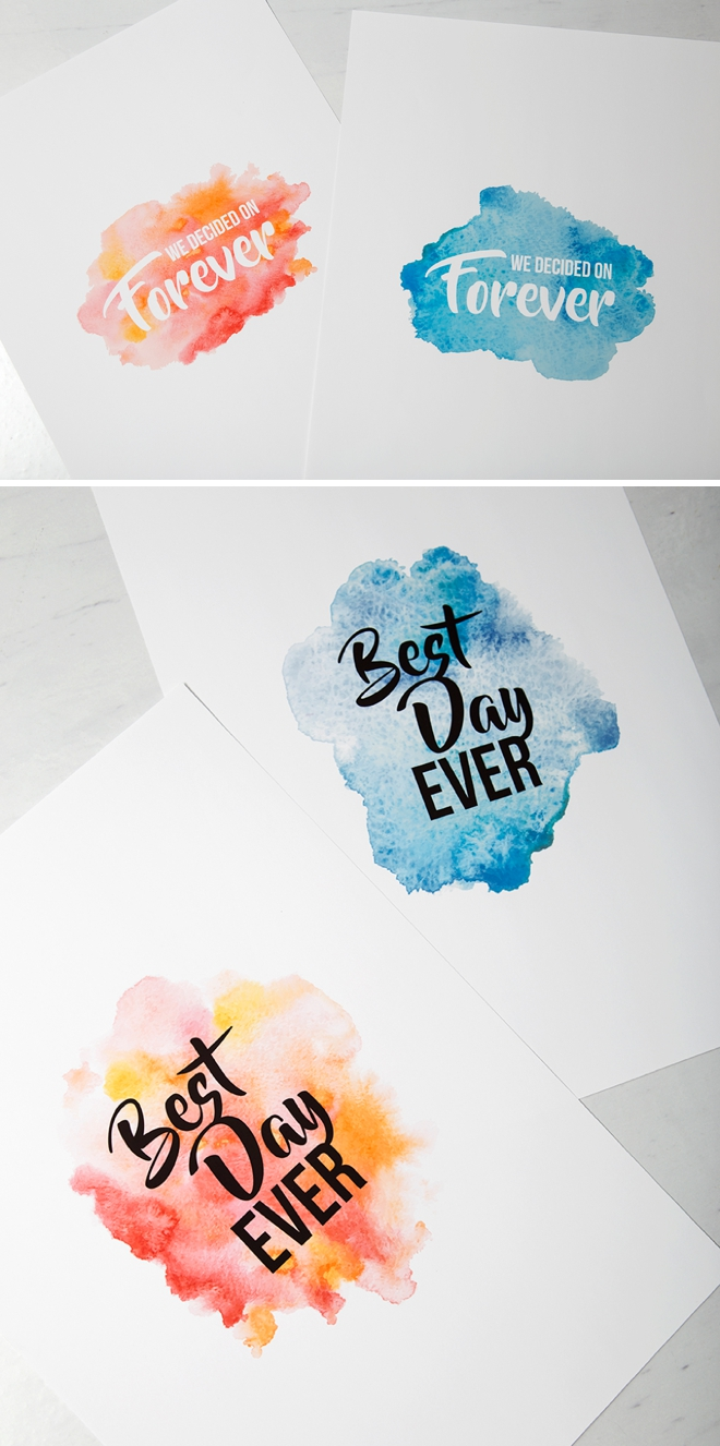 Print these darling watercolor guestbook sign for FREE!