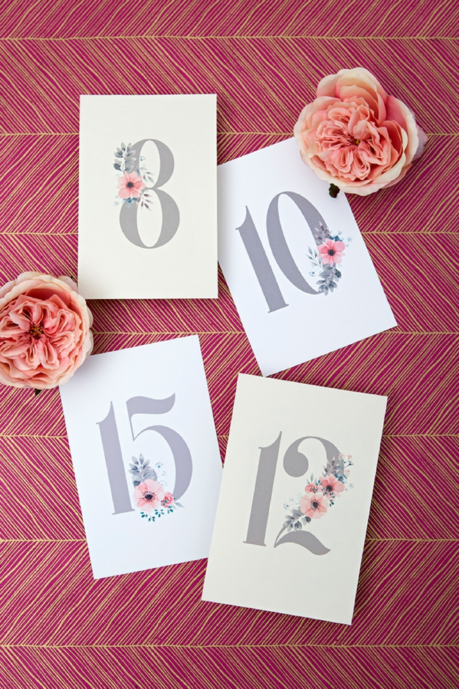 photograph regarding Free Printable Wedding Table Numbers referred to as Print People Darling Floral Desk Figures For Your Wedding day