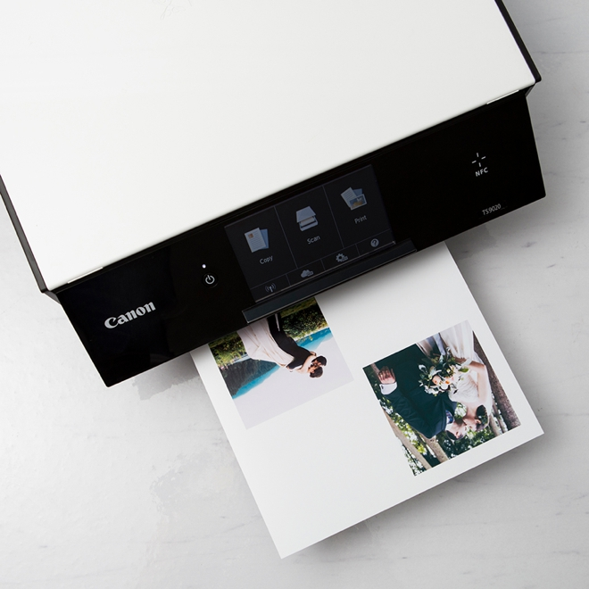 Print photos to turn into coasters using your Canon TS9020!