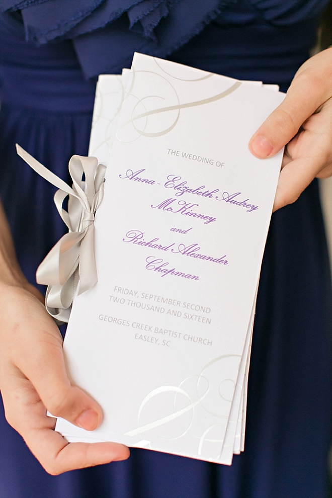 Darling ceremony details at this couple's classic ceremony!