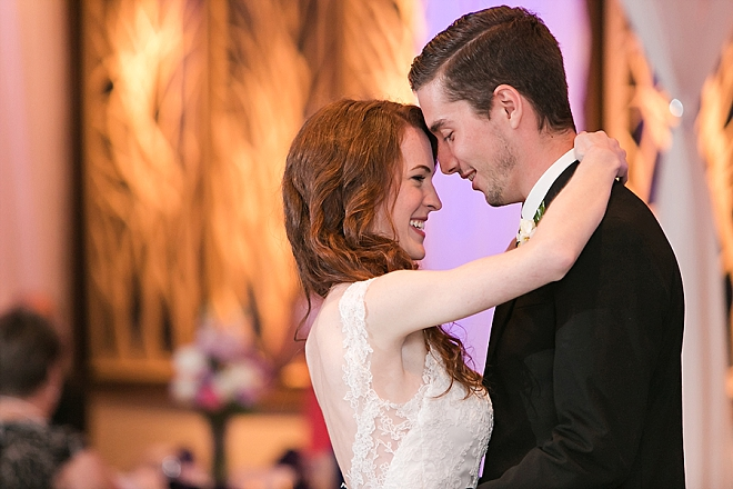 Swooning over this couple's first dance as Mr. and Mrs!