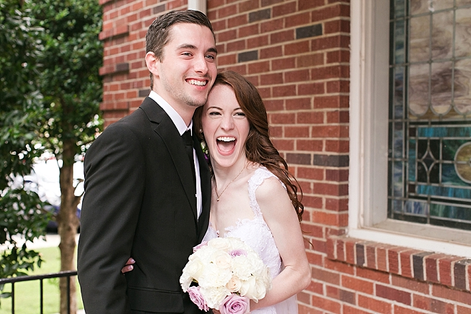 We're crushing on this gorgeous couple and their super sweet day!