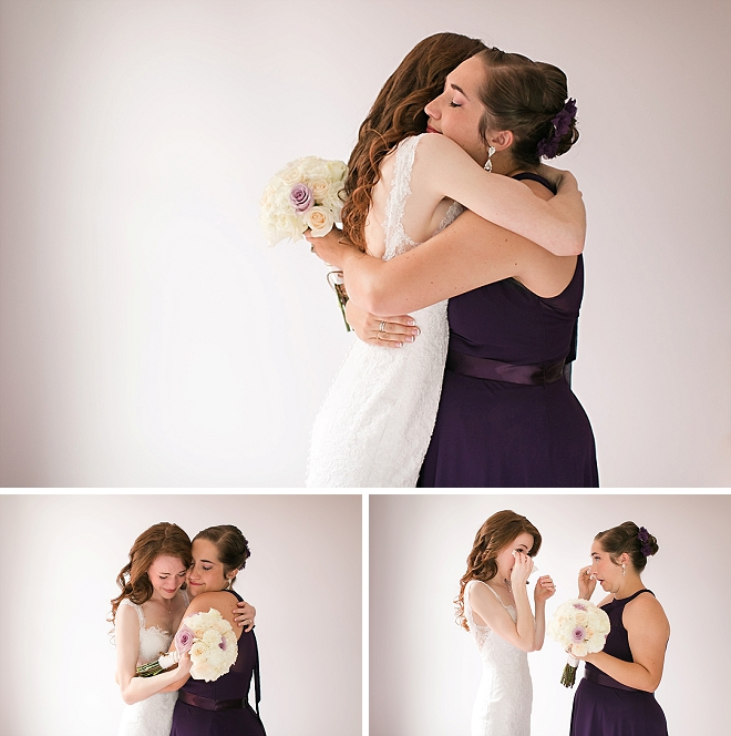Such sweet snaps of this Bride and her Bridesmaid before the ceremony!