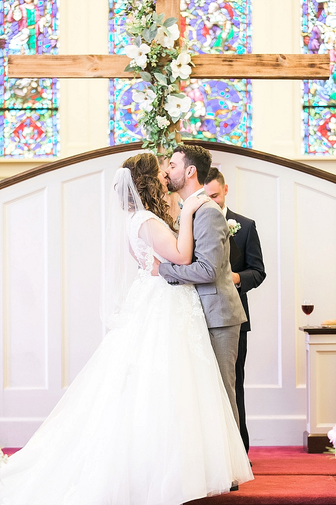 First kiss and Mr. and Mrs! Swoon!