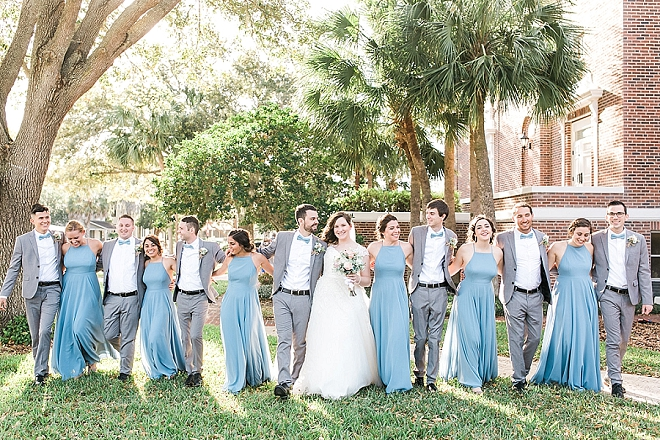 Great snap of the bridal party after the ceremony!