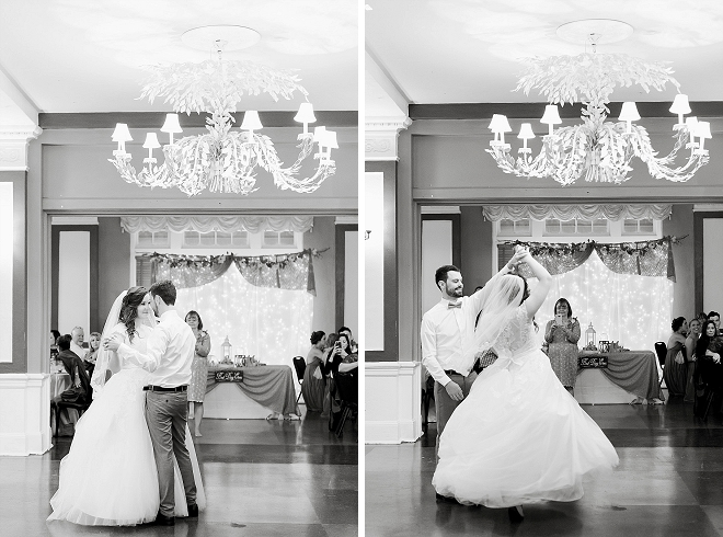 Super sweet snap of this couple's first dance as Mr. and Mrs!