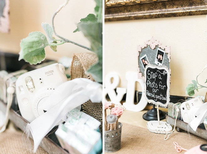 We're in LOVE with this couple's dreamy rustic-chic reception and all of the gorgeous details!