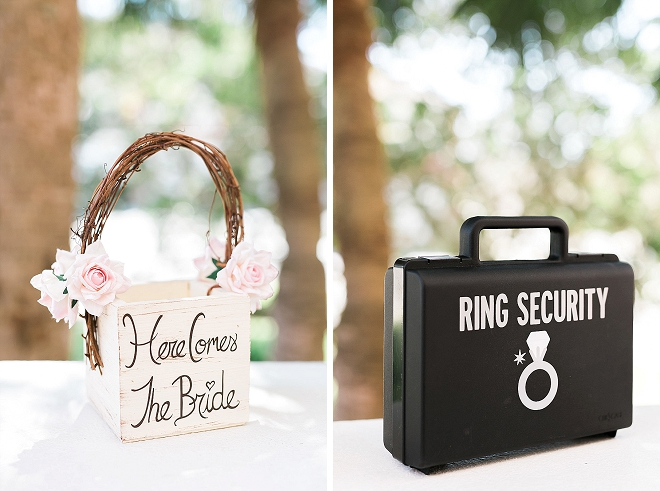 How darling are these ring security and flower girl basket?!