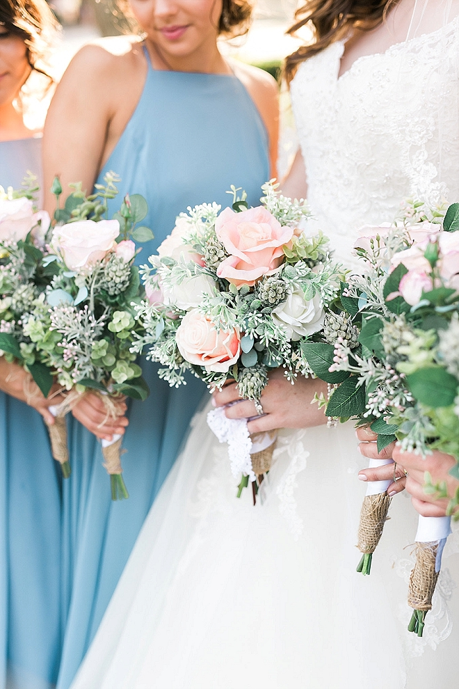 Swooning over this gorgeous Bride and Bridal Party!