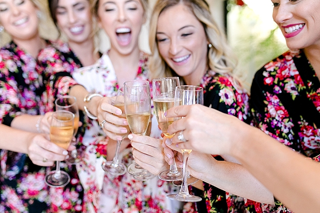 Such a fun snap of the Bride and her Bridesmaid's before the big day!