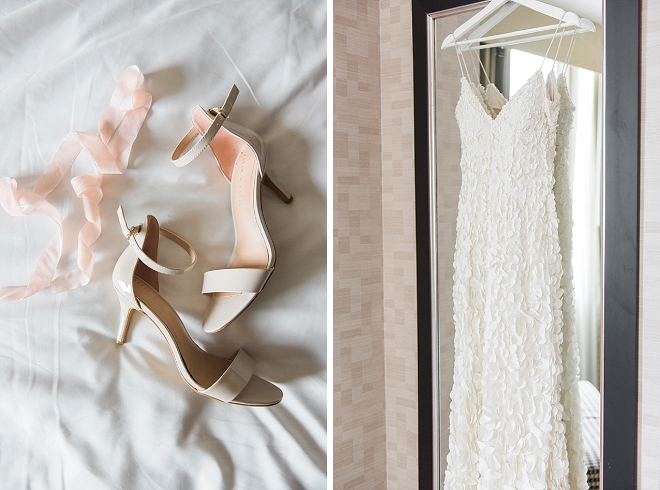 This Bride's stunning DIY wedding dress and gorgeous accessories are our fave!