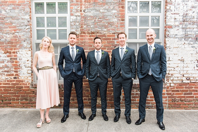 The fun Groom and his Groomsmen + Groomswoman!