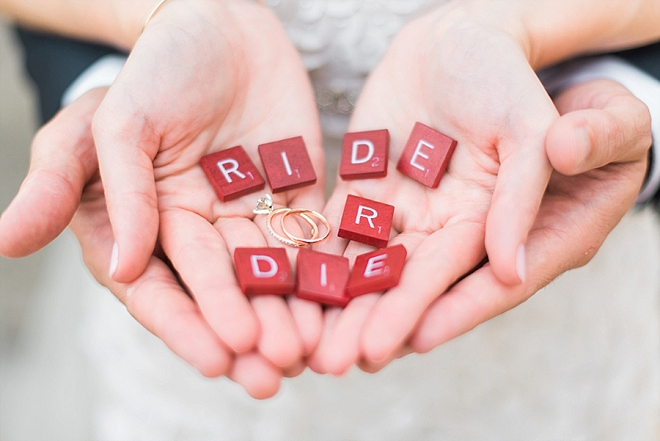 How great is this ride or die ring shot!? We're in LOVE!