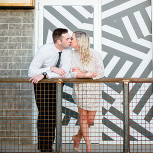 Obsessed with this urban engagement session!