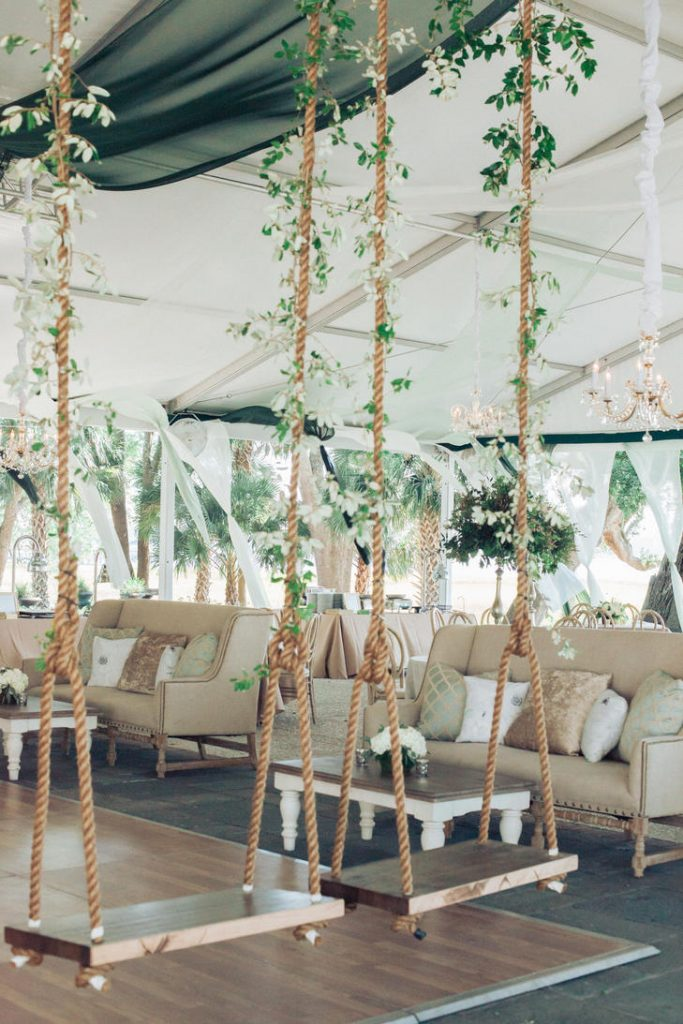 Hanging flower installation.