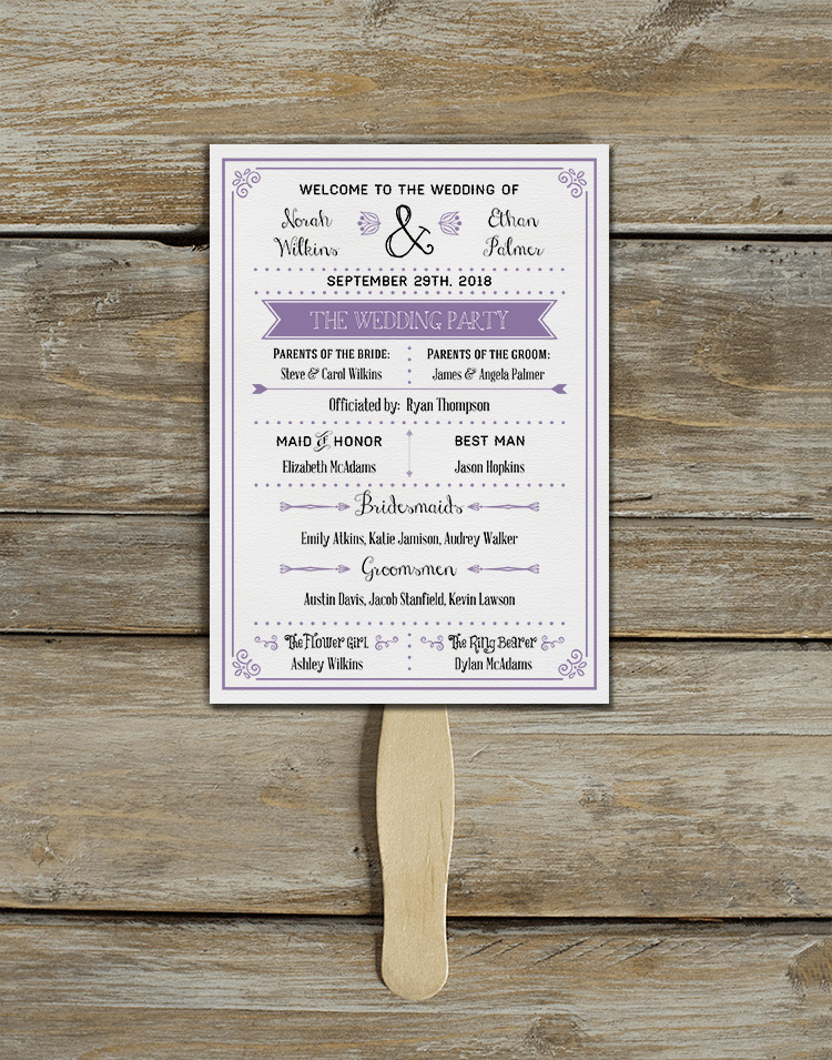 Free Printable Fan Wedding Program So Good For A Summer Outdoor Or Destination