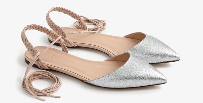 Braided Slingbacks With Sparkle So Ladylike And Feminine J Crew Slingback Glitter Flats