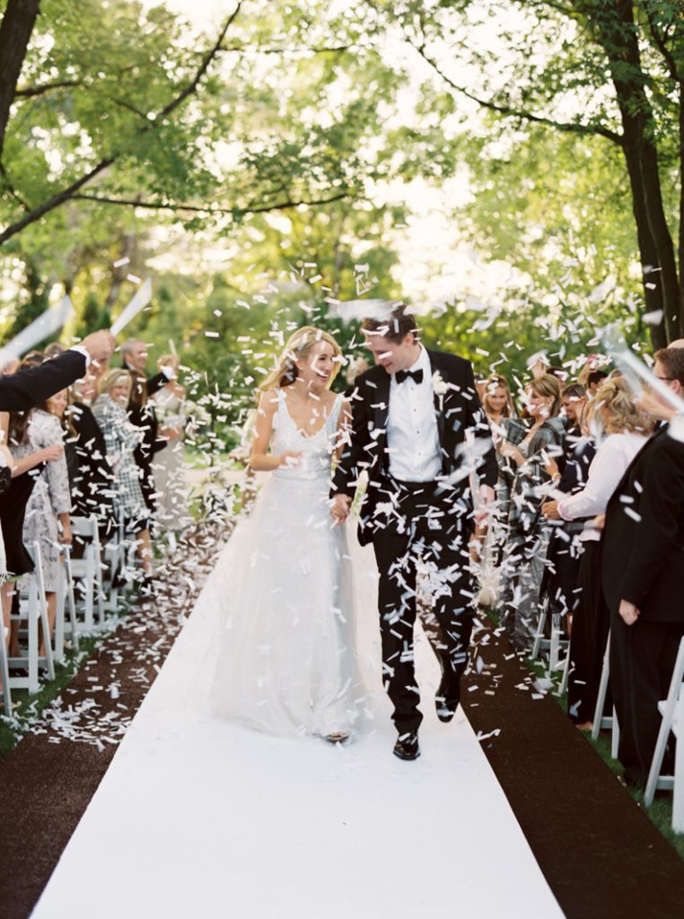 So romantic! I love the idea of using tissue paper instead of rice or confetti at a wedding.