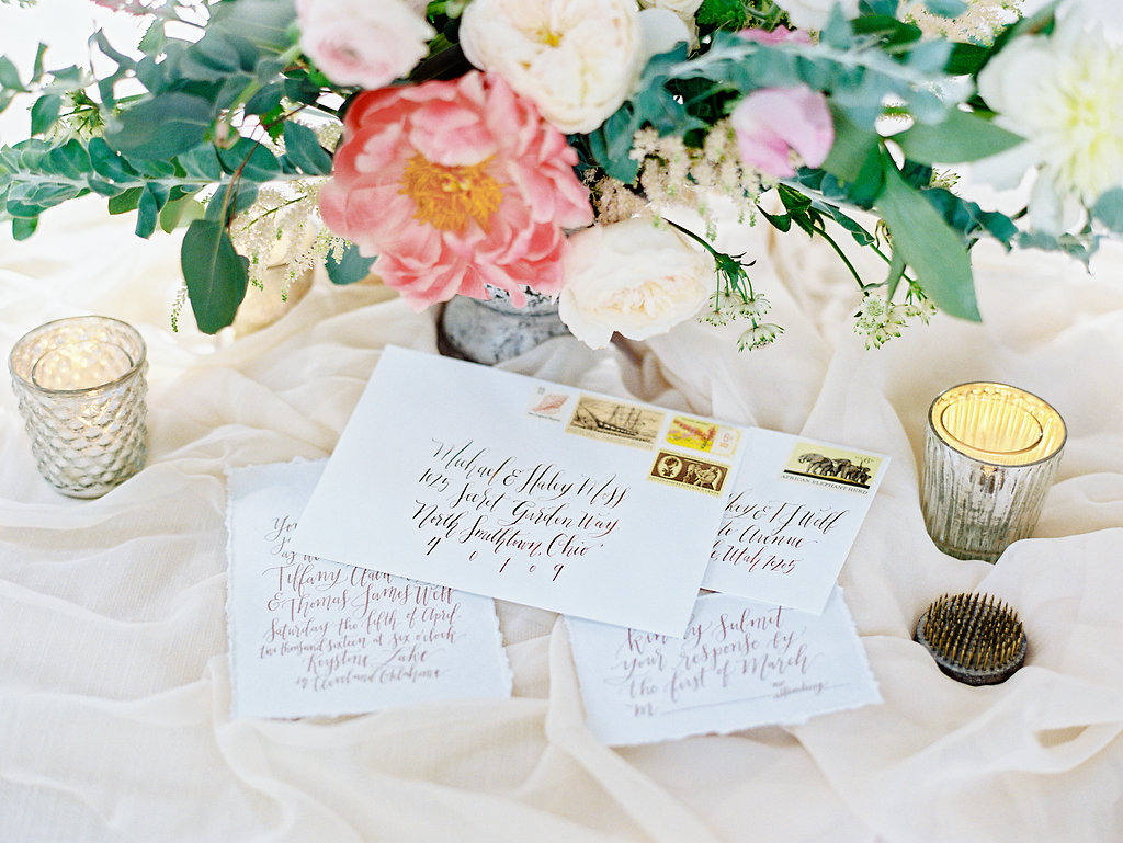 Prairie Letter Shop, custom wedding calligraphy and invitations