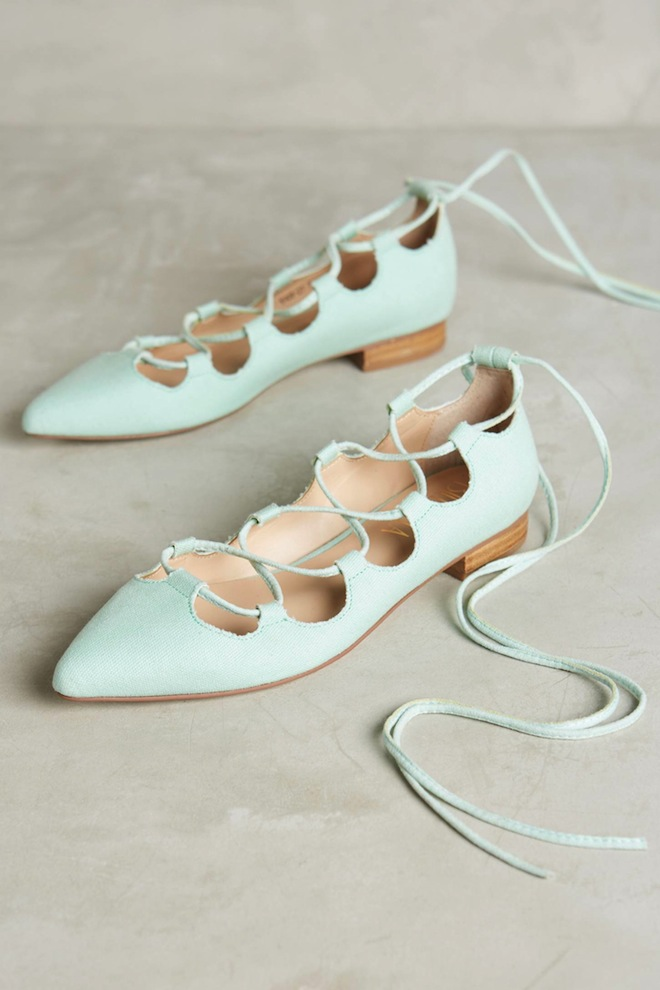 OMG something blue (turquoise?) bridal flats!